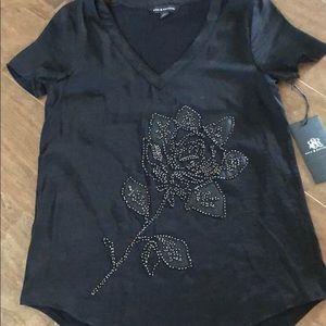 NWT Rock & Republic Embellished Flower Top Sz Xs